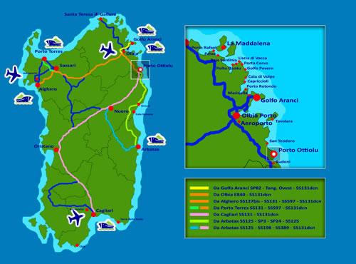 Mappa Porto Ottiolu